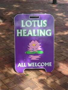 like a blossoming lotus, i'm open to healing.